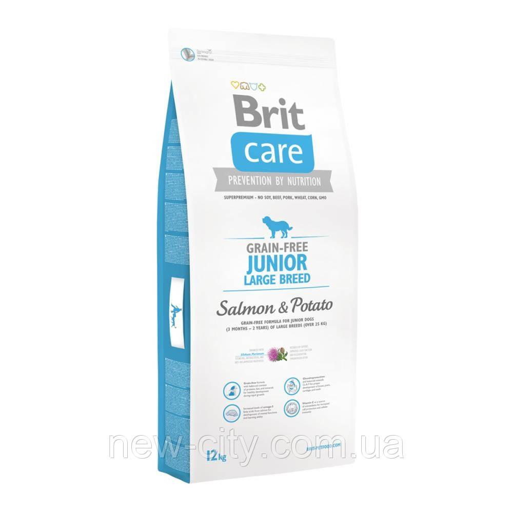 Brit Care Junior Large Breed Salmon   Potato 12kg Корм для молодых собак крупных пород с лососем и картофелем