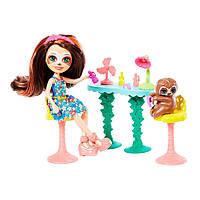 """Игровой набор Enchantimals """"Салон красоты"""" с куклой Сэла Ленни и питомцем ленивец"""