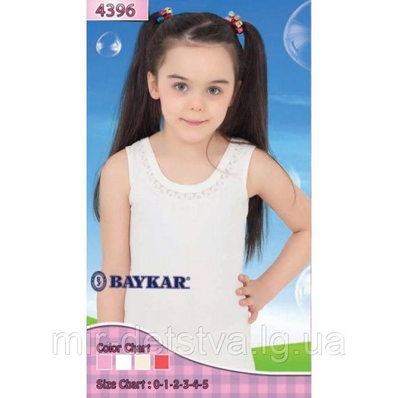 """Майка белая для девочек """"Лютик"""" ТМ Baykar, Турция оптом р.2 (110-116 см)ост.1 шт"""
