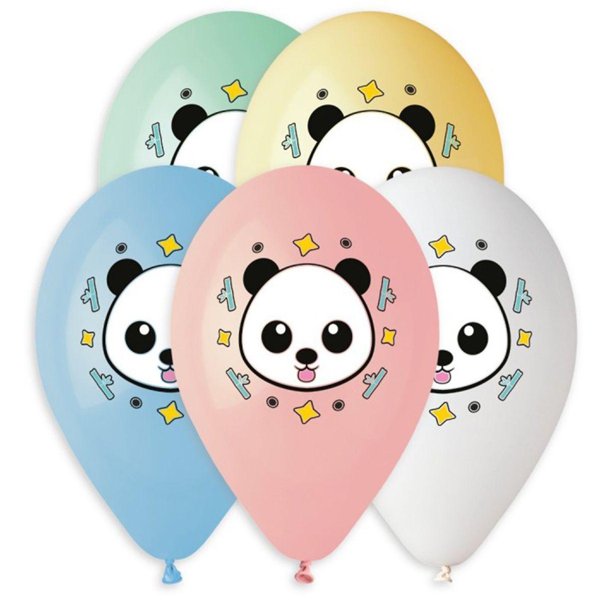 """Латексні кулі круглі  14 """"панда з язеком"""