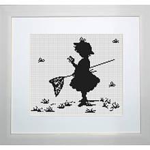 Наборы для вышивания крестом Luca S Детское Девочка с бабочками