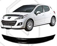 Дефлектор капота  Peugeot 207 С 2009,  Мухобойка Peugeot 207
