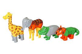Пазл 3D детский магнитные животные Popular Playthings Mix or Match, тигр, крокодил, слон, жираф - 223455