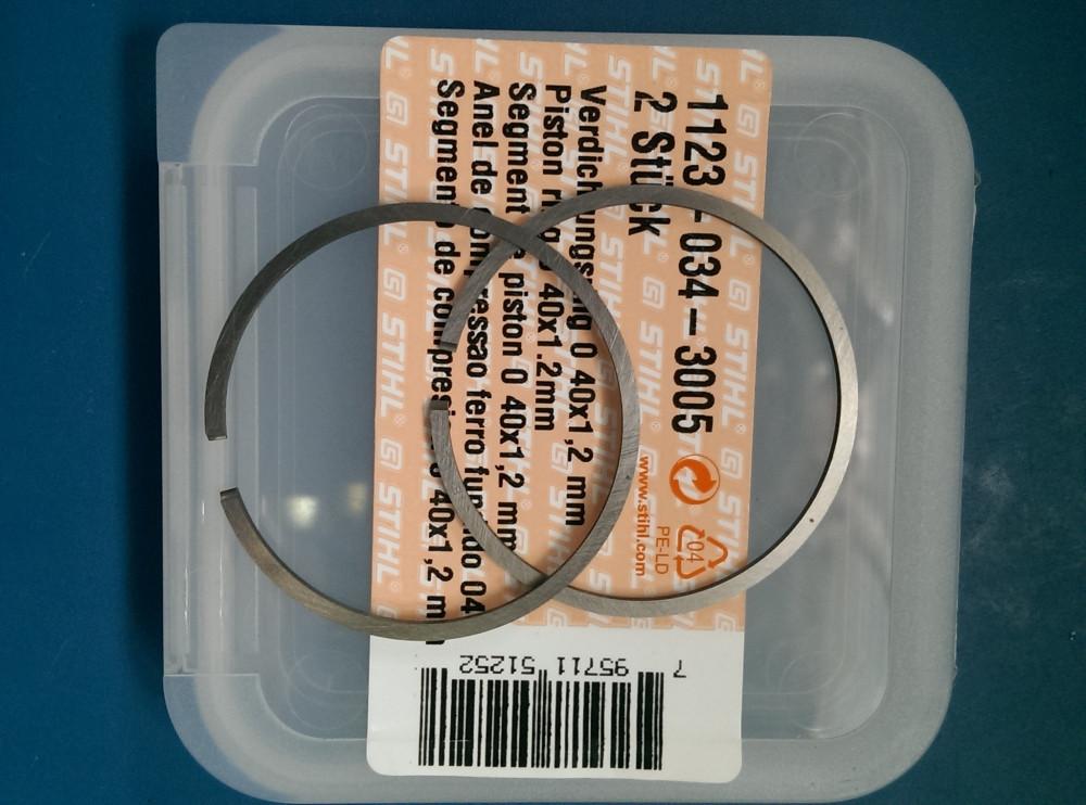 Кольцо поршневое диаметр 40мм*1,2мм толщина STIHL 230 оригинал
