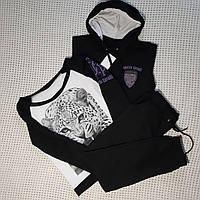 Женский демисезонный спортивный костюм  тройка 42р, фото 1