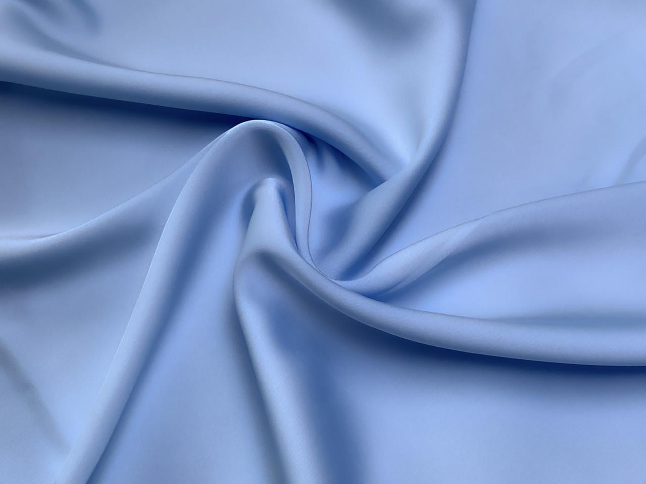 Шелк сатин, пыльный голубой