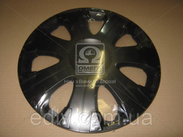 Колпак колесный R15 ULTRA черный 1шт.  DK-R15UB