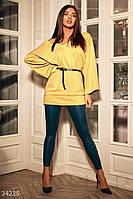 Стильная туника в стиле oversize c кожаным ремнем. Размеры S, L