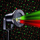 Лазерний проектор Holiday Laser Light з пультом Star Shower гірлянда зоряний вуличний зірки новорічний лазер, фото 2