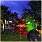 Лазерний проектор Holiday Laser Light з пультом Star Shower гірлянда зоряний вуличний зірки новорічний лазер, фото 5