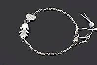 Серебряный браслет для мамы девочки Aurora размер 17-19 см 75079б