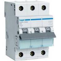 """Автоматические выключатели """"Hager"""" MBN 306E 3полюса-6A  (Хар-ка В)"""