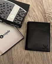 Гаманець Armani з натуральної шкіри з коробкою, шкіряні портмоне Armani, гаманець чоловічий армані