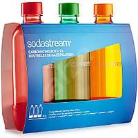 Набор бутылок Sodastream по 1Л Orange / Red / Green