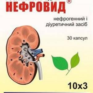 Нефровид - захищає нирки від ушкоджуючої дії нефротоксичних антибіотиків, капсули №30, фото 2