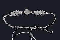 Мамин браслет из серебра Две девочки Aurora размер 17-19 75092