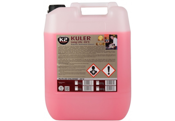 K2 Kuler Konc Концентрат антифриз 20 кг красный G12/12 (охлаждающая жидкость)