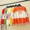 Трикотажный свитер с надписями 44-46, фото 2