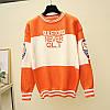 Трикотажный свитер с надписями 44-46, фото 6
