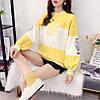 Трикотажный свитер с надписями 44-46, фото 3