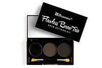 Трио-набор для бровей Flawless Brow Trio - Dark BH Cosmetics Оригинал
