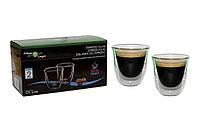 Термочашки Filter Logic CFL-655B Набор стаканов Эспрессо ESPRESSO (2шт.) 70ml Стаканы с двойными стенками