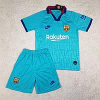 Футбольная форма Барселона резервная бирюзовая (сезон 2019-2020)