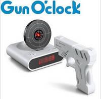 Будильник пистолет с мишенью. Супер Тир часы для дома