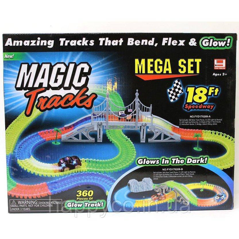 Гоночный трек Magic Tracks, 360 деталей, детская  игрушка