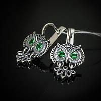 Серебряные серьги Сова Selenit 82070