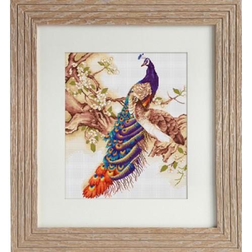 Набор для вышивания нитками Luca-S Животные Птицы Павлины