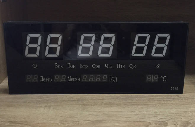 Годинники настінні електронні 4622, фото 2