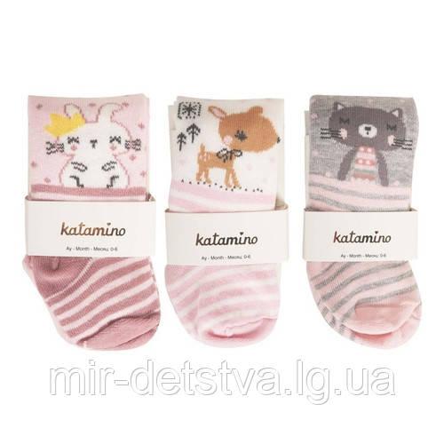Колготки для новорожденных оптом, Турция ТМ Katamino р.0-6 мес (62-68 см)