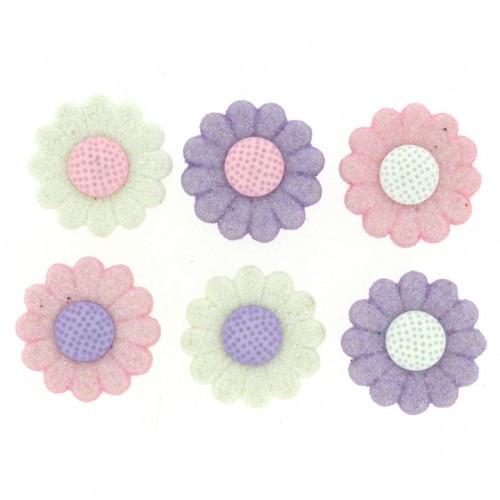 8993 Декоративні гудзики. Пастельні квіти