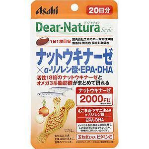 Asahi Dear Natura Наттокиназа 2000FU + DHA EPA+ α-ліноленова + кверцетин 20 капс на 20 днів