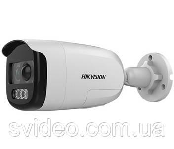 DS-2CE12DFT-PIRXOF (3.6 мм) 2Мп ColorVu Turbo HD видеокамера с PIR датчиком и сиреной