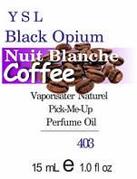 Духи 15 мл (403) версия аромата Ив Сен Лоран Black Opium Nuit Blanche