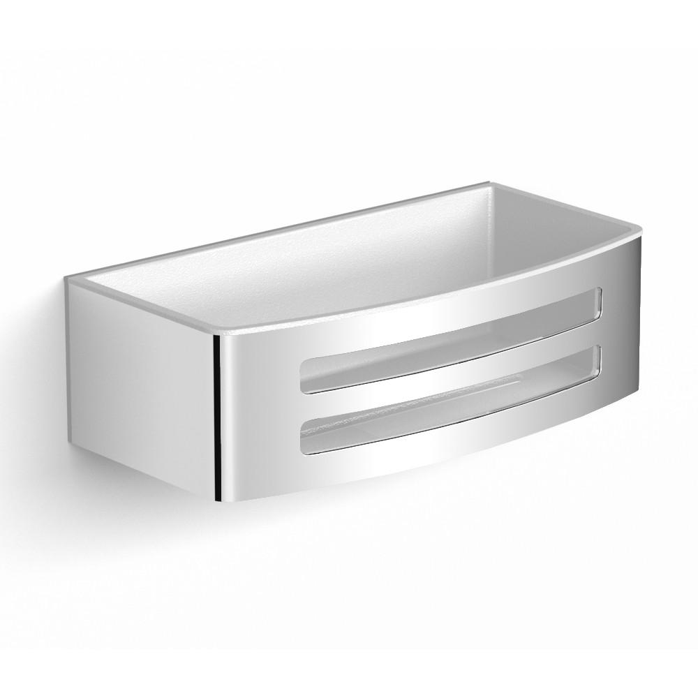 TEO настенная душевая полочка хром, с пластиковой вставкой White Volle 15-88-755W