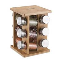 Набор для специй Kamille  на деревянной подставке (7035 K)