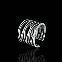 Широкое серебряное кольцо универсального размера Selenit 12061