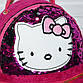 Малиновый детский рюкзак с пайетками Hello Kitty (Хеллоу Китти), фото 3