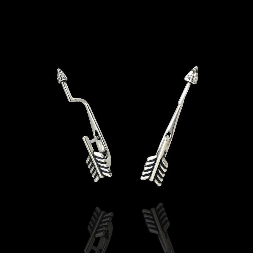 Серебряные серьги Стрела Selenit 82071