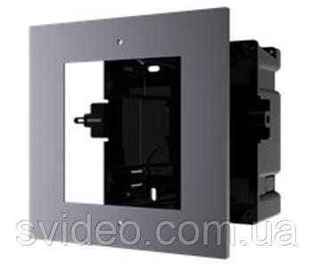 DS-KD-ACF1/Plastic Врезная монтажная рамка на 1 модуль, фото 2