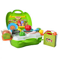Набор продуктов ВОША 8349 в чемодане Зелёный