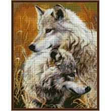 Вышивка бисером, Канва Город Схема пары Стильная Пара волков