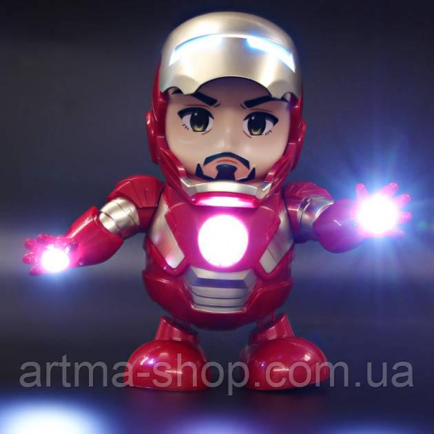 Интерактивная игрушка IRON MAN Tomax Танцующий робот DANCE SUPER HERO Музыкальный