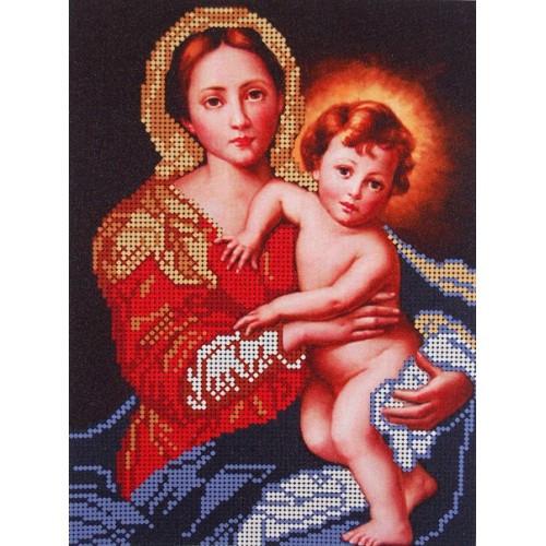 Діва Марія тримає Ісуса немовляти