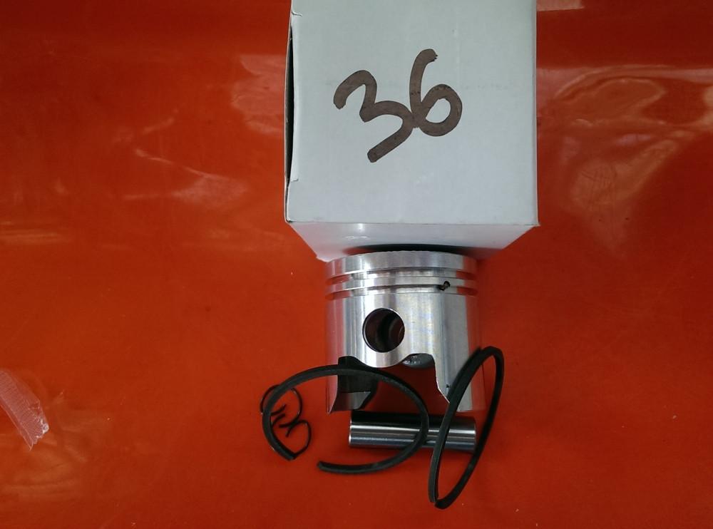 Поршень 36 мм мотокоса Китай 1,2 квт в сборе палец 9мм