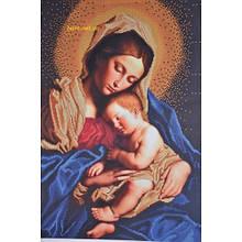 Вышивка бисером, Канва Религия Мадонна с младенцем