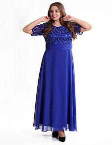 Enigma Store G 0731B 7 Платье вечернее в большом размере с гипюровым лифом
